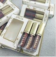 Makyaj dudak parlatıcısı Stila Glitter Glow Sıvı Göz farı seti 3adet Glitter On The Go Sınırlı sayıda Göz Farı Seti ayarlayın.