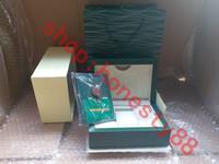 Top de luxo relógio caixa verde papéis presente relógios caixas de cartão de saco de couro 0.8KG para caixa de relógio Rolex