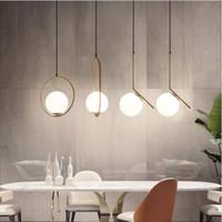 Nordic Chanselier Minimalist Art Led Chanselier Hang Стеклянный шар для гостиной спальня минималистский ресторан бар домашнее освещение