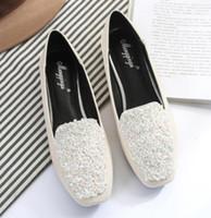 2019 scarpe da donna in primavera e in autunno con il nuovo stile piatto fondo in poliestere testa Piazza @ 9036