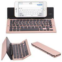 Windows, Android, iOS, 태블릿 iPad, 전화 블루투스 키보드를위한 터치 패드 마우스가있는 휴대용 접이식 무선 키보드