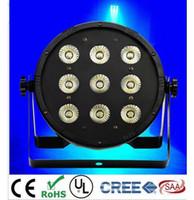 2pcs 9x12W LED Wohnung SlimPar Quad Licht RGBW 4in1 LED DJ-Wäsche Licht Bühne Uplighting Kein Lärm Freies Verschiffen