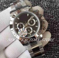 JH fábrica nova versão 116520 mens automático ETA 4130 movimento relógio homens de aço inoxidável bezel luminoso cronógrafo esporte mergulho relógios