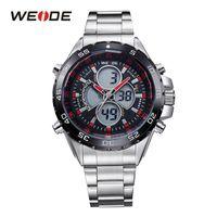 WEIDE nuovo modo degli uomini della vigilanza di sport Top Luxury Brand acciaio pieno dalla cinghia militare Analogico Digitale causale Clocks Man Relogio Masculino
