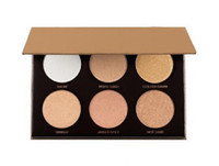 Hot Make-up Goldkasten 6 Farbe Bronzers Highlighter Puder Palette Make-up-Sets! epacket Versand!