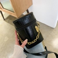 2020 stone grain bucket small bag simple chain female bag wi...