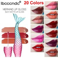 Maquillage Mermaid Lip Gloss Ibcccndc Matte liquide Rouge à lèvres mis en velours Coupe antiadhésif soyeux Lip Gloss 20 colorent des lipgloss Long Lasting Lèvres Beauté