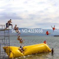 شحن مجاني 6 * 3 متر pvc فقاعة الماء القفز نفخ المياه catapault للتسلية الرياضية اللعب مع مضخة الهواء الكهربائية