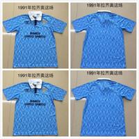 8293c06b7f8 1991 Lazio Retro version Soccer Jersey 1991 1992 Lazio IMMOBILE SERGEJ LULIC  LUIS ALBERTO Soccer Shirt Customized Football uniform