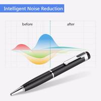 Kalem-Şekli Sürekli 10 saat Dijital Ses Kayıt 192 Kbps Tek düğme Ses Kaydedici ile MP3 Fonksiyonu ve U Disk Fonksiyonu desteği TF kartı