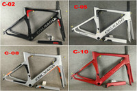 14 colori Colnago Carbon Road Frame Full Bicycle Fiber Bicycle Frame con BB386 Frame XXS / XS / S / M / L / XL