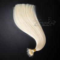 Nano Rohe Tipp Russisch Gerade 100g Black Blonde Doppel Gezeichnete Ein Spender Keratin Vorgebundener Nano Ring Menschliche Haar Virgin Erweiterungen