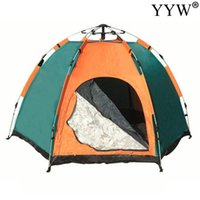 Палатки и укрытия 3-4 человек купол автоматическая лагеря для кемпинга простая мгновенная установка Protable -up 4 Seasons Backpacking Family Travel