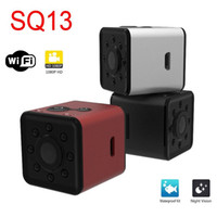 WIFI Mini Kamera mikro kam SQ13 HD 1080 P Gece Görüş video Sensörü Kaydedici Kamera Spor MINI DV DVR Su Geçirmez Küçük Kamera