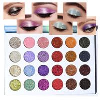 ROSAWEE 24 Colors Glitter Eyeshadow Palette 24 Ультра-пигментированные тени для век с блеском Пудра для глаз Косметика для макияжа Косметический подарок