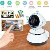 HD 1080P Kablosuz IP Kamera Ev Güvenlik Gözetleme Kamerası Panoramik Çift Yönlü Ses Gece Görüş CCTV WiFi IP Kamera Bebek Monitörü
