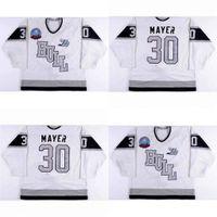 Hull Custom Olympiques Jerseys 30 Thierry Mayer Mens pour femmes Jeunesse 100% Broderie Cusotm N'importe quel nom N'importe quel numéro Chaude vente de glace hockey jerseys