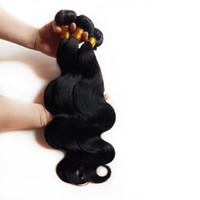 Cabelo brasileiro virgem malaio não transformados extensões de trama do cabelo onda do corpo malaio venda quente 8-26 polegada Cor Natural Russo Remy indiano cabelo humano