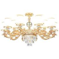 Moderna Luster Gold Metal Led soffitto Lampadari Lampada in marmo Soggiorno Led Chandelier illuminazione della sala da appendere le luci Infissi