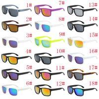 Lunettes de soleil de luxe UV400 Protection 9102 Lunettes de soleil sport Hommes Femmes Unisexe Summer Shade Lunettes Outdoor Vélo Sun Glass 18 couleurs