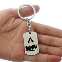 10 adet / grup Apex Efsaneleri Anahtarlık Sıcak Oyun Rakamlar Anahtar Yüzükler Paslanmaz Çelik Kazınmış Logo Anahtarlıklar Araba Anahtar Tutucu Moda takı