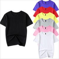 Camiseta de los hombres Camisas de diseñador liso Verano de las mujeres Tops casuales Sólido Tanque de moda Camiseta de manga media Elástico Tees Ropa de hombre B4253