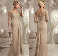 Champagne Chiffon Mermaid Mother Of The Bride Dresses 2020 S...