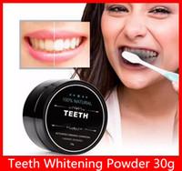 2019 Teeth Whitening Polvere naturale di bambù con carbone attivo in polvere Sorriso Decontaminazione Tooth Yellow Stain bambù dentifricio Oral Care