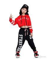 Niña Niño suelta Jazz danza de Hip Hop de la competencia con capucha del traje de tapas de la camisa de los pantalones para niños adolescentes Breakdance funcionamiento de la ropa desgaste de la ropa