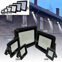 Floodlights 10W 20W 30W 50W 100W Ultra Fino LED luz de inundação 110V / 220V IP68 lâmpada de parede ao ar livre DHL