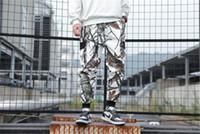 Männer nehmen Desinger Hosen Tarnaufdruck Tasche Sport-Art-beiläufige Kleidung Herbst Lässige Kleidung Cargohose