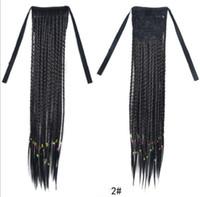 Top quanlity sintético cabelo longo e reto handmade estilo bósnio rabo de cavalo rabo de cavalo pequeno rabo de cavalo rabo de cavalo feito à mão pacote FZP169
