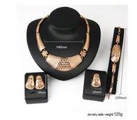 Kreative Halskette Ohrringe ring set Europäische und amerikanische Hochzeitsbankett Hochzeitskleid Schmuck Geschenke für Frauen