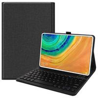 예약 화웨이 MatePad 프로 인치 태블릿을 넣을 수 있습니다 10.8 키보드 스탠드 TPU로 돌아 가기 케이스와 커버 플립