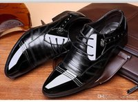 Sharp leather shoes men spring Korean version of British fas...
