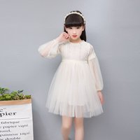 2019 New Spring Girl Dress Teenage New Lace Flower Princess ...