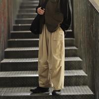 El traje de color japonesa sólida INS flojo estupendo de gran tamaño de primavera y otoño nueva marea de los hombres de moda los pantalones ocasionales masculino