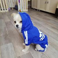 Primavera ropa para perros mascotas para perros mascotas El traje del mono con capucha del gato del perrito por capa del perro gruesas Mascotas Perros Ropa Chihuahua York