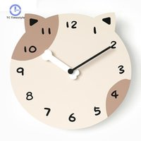 Wall Clock Child Animal Christmas Elk Cat Personality Living Room Decoration Bedroom Clocks Nordic Mute Watches