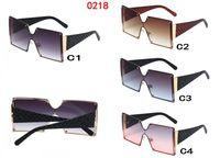 Óculos grandes óculos escuros mulher Óculos De Sol Preto Fashion Square Óculos Grandes Óculos de moldura vintage óculos retro Unisex oculos feminino 0218 5PC