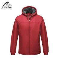 SAENSHING Winter Thick Hiking Jackets Men Windproof Waterpro...