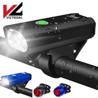 أضواء الدراجة ضوء فيفيال ضوء USB قابلة للشحن دراجة مجموعة ماء الدراجات الجبهة الخلفية مصباح المصباح LED ل