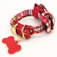 Dog bowknot Swallow Cinge Coleiras Medalha Buckle Natal Red Classical Colar Eco-friendly Fit Pet Acessórios Dogs Collar