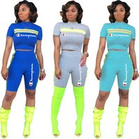 2019 Champions Brand Short Tracksuit Women Reflective Strip ...