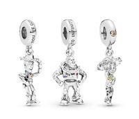 Pandora Bilezikler Uyar 20 adet Karikatür Oyuncak Emaye Kolye Charms Boncuk Gümüş Charms Boncuk Kadınlar Için DIY Avrupa Kolye Takı