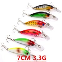 1pcs 6 Color 7cm 3. 3g Minnow Fishing Hooks Fishhooks 8# Hook...