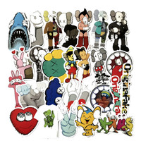 27pcs / set KAWS Dissected Graffiti Sticker Companion DIY autocollants dessin animé PVC Wall stickers sac Accessoires de bande dessinée Kaws jouets FFA2024
