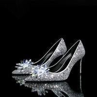 Pfennigabsatz Kristalle Braut Sparkly Großhandel Schuhe Hochzeit Für VpSUMGqz
