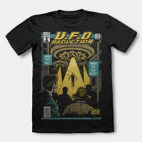 UFO ABDUCTION 60S COMIC MASHUP dtg para hombre t shirt tees nuevo 2018 Divertido Casual Brand Shirts Top Ropa Tops Moda Hipster
