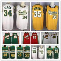 Vintage Gary 20 Payton Shawn 40 Kemp Kevin 35 Durant Ray 20 Allen Seattle VerdeSupersônica.Sonics.Jerseys de basquete jersey.